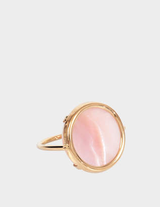 Ginette NY Ever pink MOP 18-karat rose gold Disc ring qYo5mca