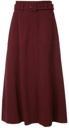 G.V.G.V. Cady belted flared skirt