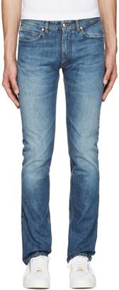 Versace Blue Slim Jeans $625 thestylecure.com