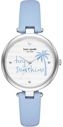 Kate Spade Varick light blue leather watch