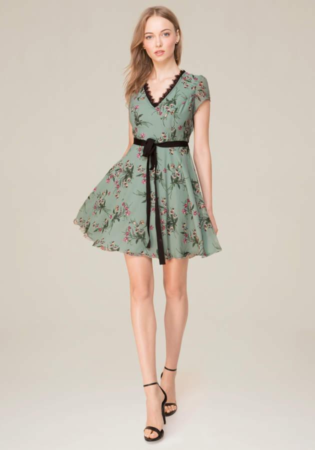 Open Crossback Flared Dress