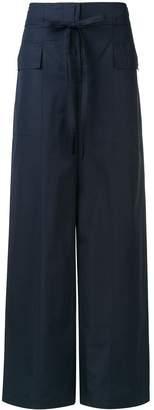 Sportmax drawstring flared trousers