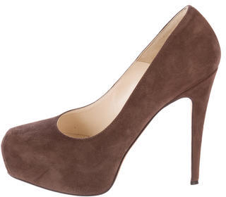 Brian Atwood Round-Toe Platform Pumps $100 thestylecure.com