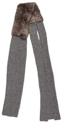3.1 Phillip Lim Fur Knit Scarf w/ Tags