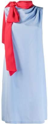 L'Autre Chose tie neck shift dress