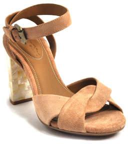 Chloé Women's Isida Suede & Mother-of-Pearl Block Heel Sandals PcEv4
