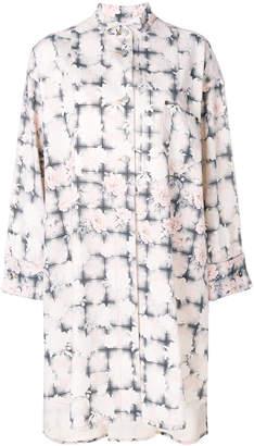 MM6 MAISON MARGIELA floral check shirt dress