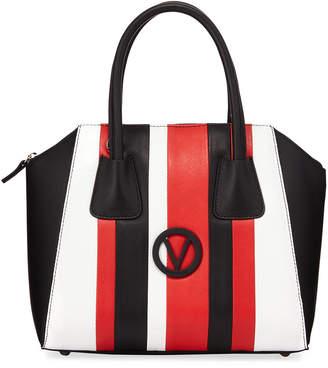 Mario Valentino Valentino By Minimi Striped Leather Satchel Bag