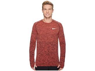 Nike Dri-FIT Long Sleeve Knit Running Top Men's Clothing