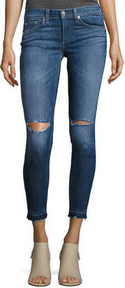 Rag & Bone Mid-Rise Skinny Capri Jeans with Released Hem, Lily Dale
