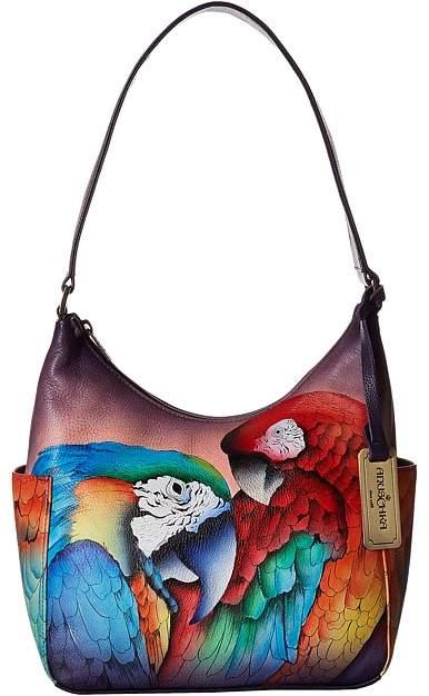 Anuschka Handbags - 382 Classic Hobo With Side Pockets Hobo Handbags