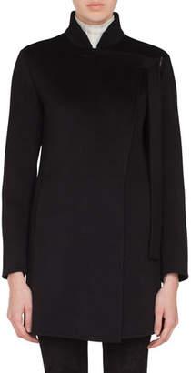 Akris Terra Cashmere Asymmetric Lapel Jacket