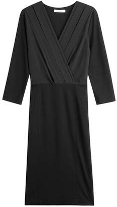 Max Mara V-Neck Dress with Wool