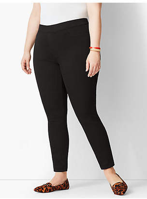 Talbots Plus Size Exclusive Pull-On Denim Jeggings - Black