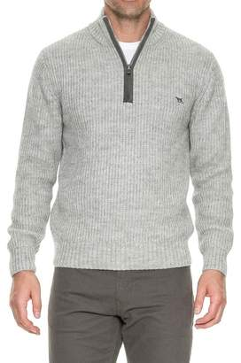 RODD AND GUNN Huka Lodge Quarter Zip Elbow Patch Sweater