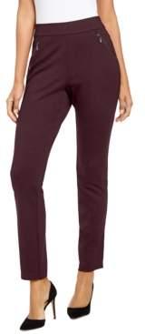 INC International Concepts Inc Curvy Zippered Straight-Leg Pants, Created for Macy's