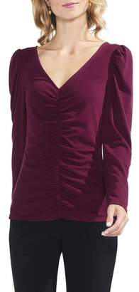 Vince Camuto Puff Shoulder Cinched Top