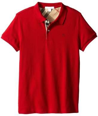 Burberry Pique Polo Boy's Short Sleeve Button Up