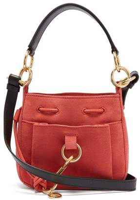 See by Chloe Tony Small Suede Bucket Bag - Womens - Pink