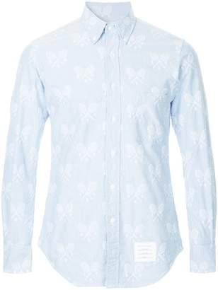 Thom Browne tennis embroidery shirt