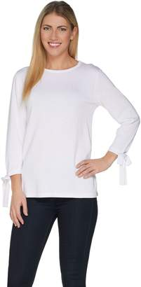 Joan Rivers Classics Collection Joan Rivers 3/4 Sleeve Sweater with Side Bows