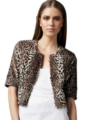 Graham & Spencer Leopard-Print Fur Jacket