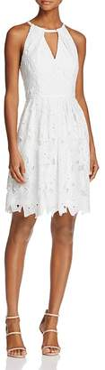Adrianna Papell Lace Cutout Halter Dress $160 thestylecure.com