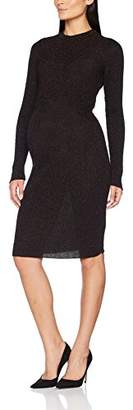 SUPERMOM Women's's Knit ls Maternity Dress,(Size of : XL)