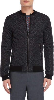 Dolce & Gabbana Diamond Quilted Cheetah Bomber Jacket