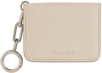 Burberry Leather Link Detail Card Case
