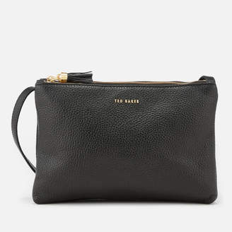 Ted Baker Women's Maceyy Tassle Double Zipped Cross Body Bag - Black