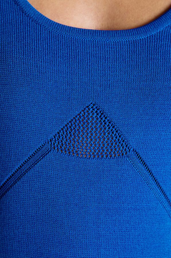 Yigal Azrouel Cut25 by Mesh Knit Insert Techno Dress