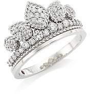 Roberto Coin Disney x Princess Cinderella 18K White Gold & Diamond Tiara Ring