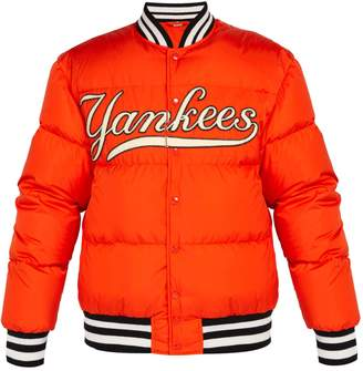 Gucci NY Yankees-appliquéd down-filled bomber jacket