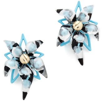 Alexis Bittar Abstract Flower Screw Earrings $245 thestylecure.com