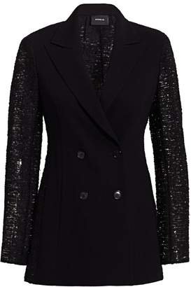 Akris Gaia Embroidered Back Wool Jacket