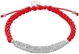 Kohl's North Carolina State Wolfpack Crystal Sterling Silver Bar Link & Team Logo Charm Slipknot Bracelet