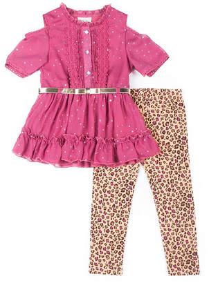 Little Lass Short Sleeve Party Dress - Toddler Girls