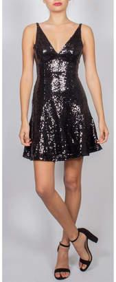AAKAA Sequin Skater Mini-Dress