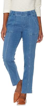 Isaac Mizrahi Live! Tall Knit Denim Pull-On Ankle Jeans