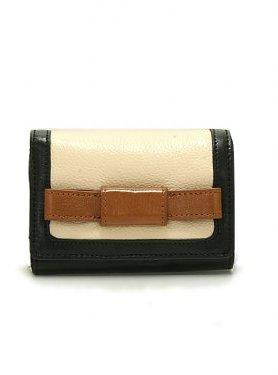 Orla Kiely Tonal Leather Medium Folded Wallet