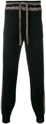Missoni rainbow stripe track pants