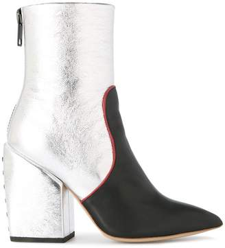 Petar Petrov metallic ankle boots