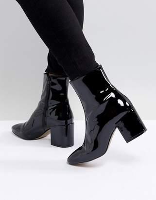 Asos DESIGN Rosana Leather Block Heeled Boots