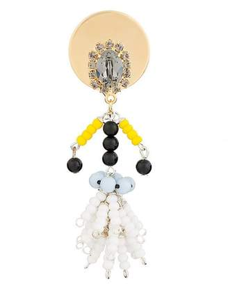 Marni crystal figure brooch