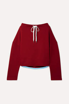 Marni Oversized Cotton-jersey Sweatshirt - Claret