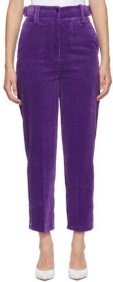 Joseph Purple Jumbo Corduroy Trousers
