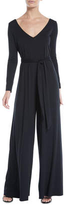 Rachel Pally Judith V-Neck Long-Sleeve Jumpsuit, Plus Size