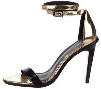 Tibi Leather Ankle-Strap Sandals