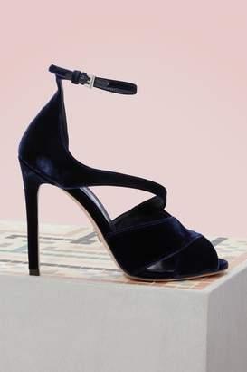 Prada Velvet Sandals